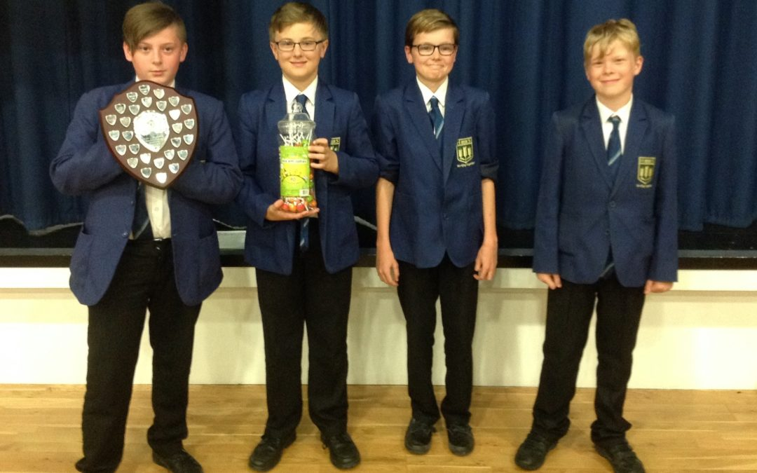 Winning is as easy as 1, 2, 3 for Highfield Maths Challenge team