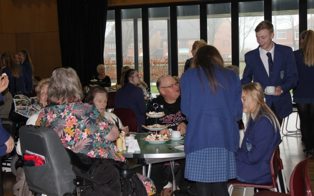 Highfield pupils give older residents a party to remember this Christmas