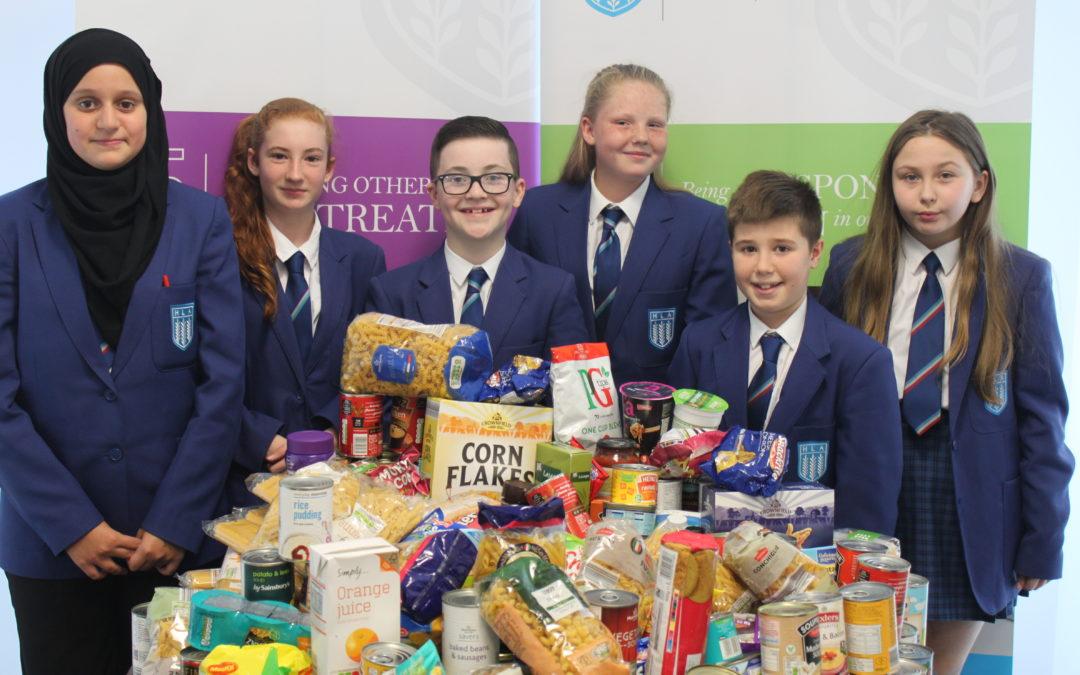 Highfield Pupils Deliver to Blackpool Food Bank
