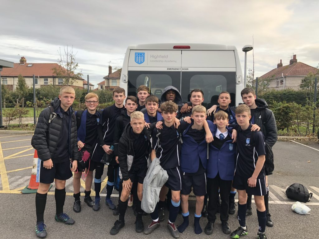 A Team Into highfield's football team get a kick out of winning schools