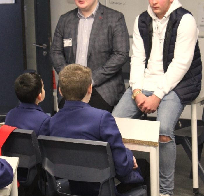 Pupils learn about the world of work from former students