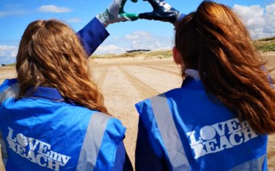 Pupils make waves with beach cleans